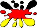 immagine bandiera tedesca a macchia